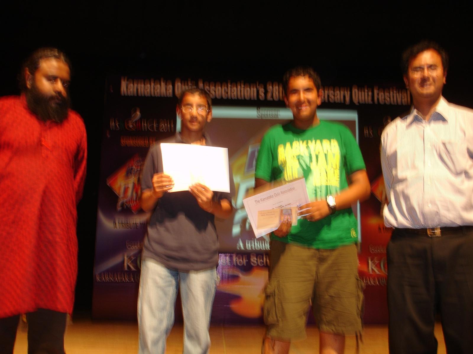 3rd Place – Akshay Tiwari & Pranav from St  Joseph's Boys